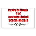 expectations Sticker (Rectangle)