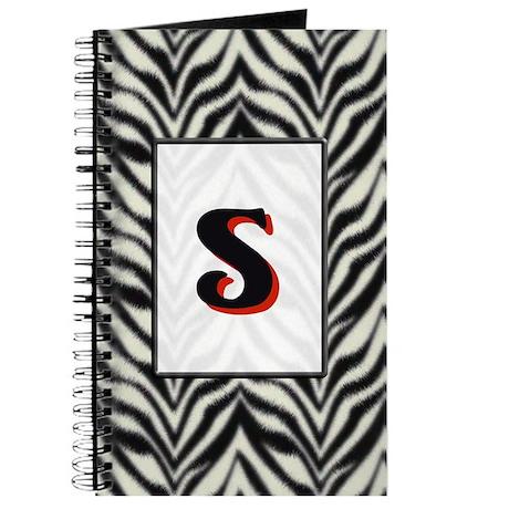 Zebra Monogram S Journal
