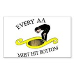 must-hit-bottom Sticker (Rectangle 10 pk)