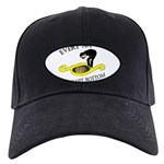 must-hit-bottom Black Cap with Patch