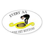 must-hit-bottom Sticker (Oval)