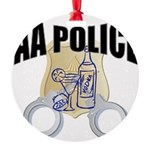aa-police Round Ornament