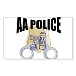 aa-police Sticker (Rectangle 10 pk)