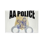 aa-police Rectangle Magnet (10 pack)