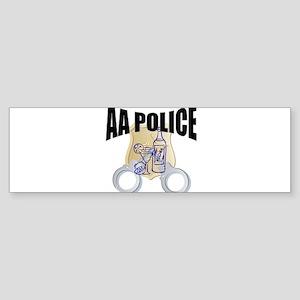 aa-police Sticker (Bumper)