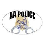 aa-police Sticker (Oval)