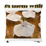 let-them-whirl Woven Throw Pillow