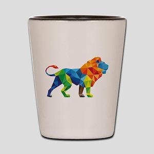 Mosaic Lion Shot Glass