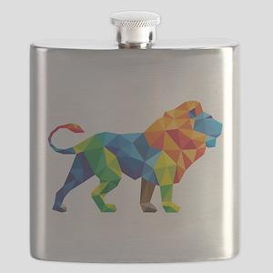 Mosaic Lion Flask