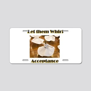 let-them-whirl Aluminum License Plate