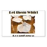 let-them-whirl Sticker (Rectangle 10 pk)