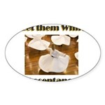 let-them-whirl Sticker (Oval 10 pk)