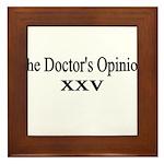 doctors-opinion Framed Tile