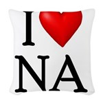 i-love-na Woven Throw Pillow