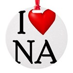 i-love-na Round Ornament