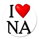 i-love-na Round Car Magnet