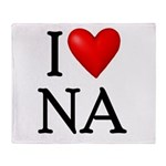i-love-na Throw Blanket