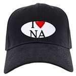 i-love-na Black Cap with Patch
