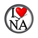 i-love-na Wall Clock