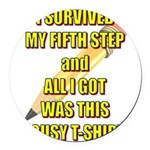 survived-fifth-step Round Car Magnet