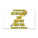 survived-fifth-step Rectangle Car Magnet