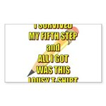 survived-fifth-step Sticker (Rectangle 10 pk)