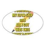 survived-fifth-step Sticker (Oval 50 pk)
