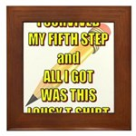 survived-fifth-step Framed Tile
