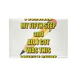 survived-fifth-step Rectangle Magnet (100 pack