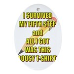 survived-fifth-step Oval Ornament