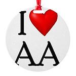 2-i-love-aa Round Ornament
