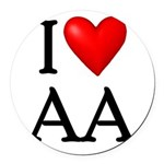 2-i-love-aa Round Car Magnet