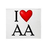 2-i-love-aa Throw Blanket