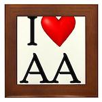 2-i-love-aa Framed Tile