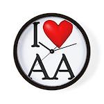 2-i-love-aa Wall Clock