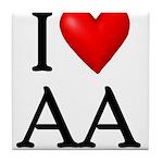 2-i-love-aa Tile Coaster