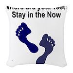 where-are-feet Woven Throw Pillow