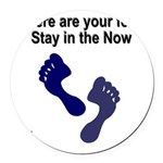 where-are-feet Round Car Magnet