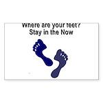 where-are-feet Sticker (Rectangle 10 pk)