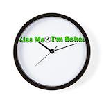 kiss-me-sober Wall Clock