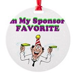 sponsors-favorite Round Ornament