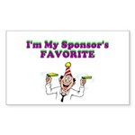 sponsors-favorite Sticker (Rectangle 10 pk)