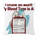 blood-type Woven Throw Pillow