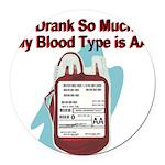 blood-type Round Car Magnet