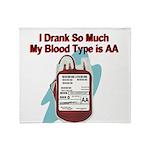 blood-type Throw Blanket