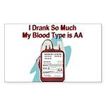 blood-type Sticker (Rectangle 10 pk)