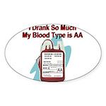 blood-type Sticker (Oval 10 pk)