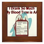 blood-type Framed Tile