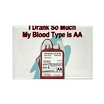 blood-type Rectangle Magnet (100 pack)