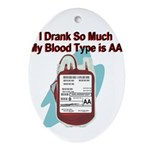 blood-type Oval Ornament